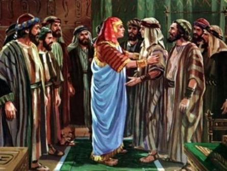 Joseph greets his brothers