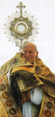 Pope with monstrance